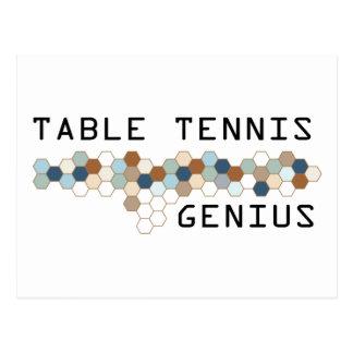 Tischtennis-Genie Postkarte