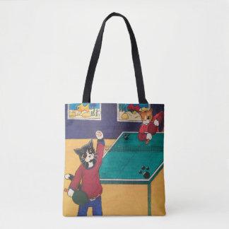 Tischtennis-Katzen Tasche