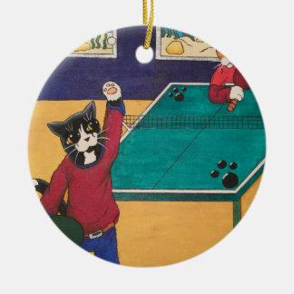 Tischtennis Keramik Ornament