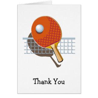Tischtennis-Klingeln Pong danken Ihnen Karten