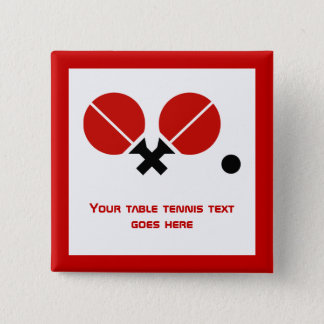 Tischtennis Klingeln-pong Schläger und Ball Quadratischer Button 5,1 Cm