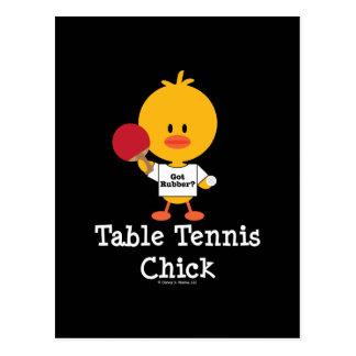 Tischtennis-Küken-Postkarte Postkarte