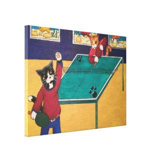 Tischtennis Leinwanddruck