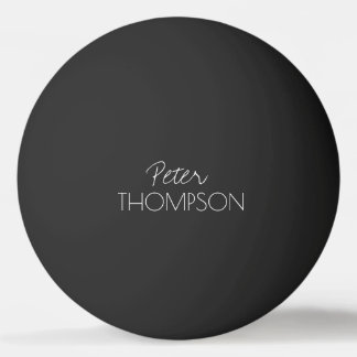 Tischtennis-Monogramm black_ball Ping-Pong Ball