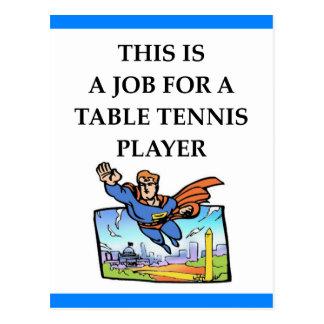 Tischtennis Postkarte