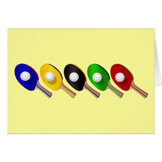 Tischtennis-Schläger und Klingeln Pong Ball-Sport Karte