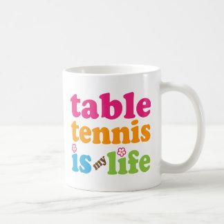 Tischtennis-Spieler-Geschenk-Mädchen Kaffeetasse