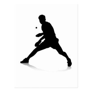 Tischtennis-Spieler Postkarte