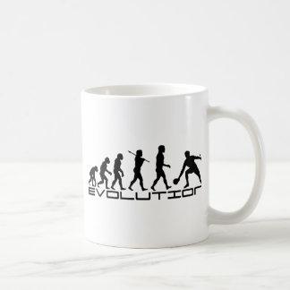 Tischtennis-Sport-Evolutions-Kunst Tasse