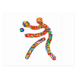 TISCHTENNIS Sport Postkarte