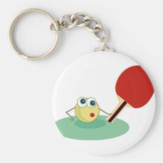 Tischtennis Standard Runder Schlüsselanhänger