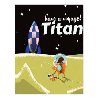 Titan-Vintages Science Fictionreiseplakat Postkarte
