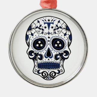 Titan-Zuckerschädel Silbernes Ornament