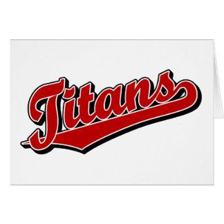 Titanen im Rot Karte