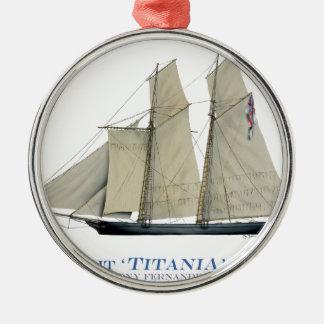 Titania 1851 silbernes ornament