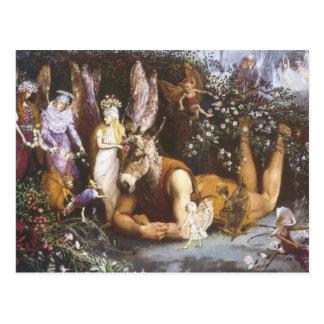 Titania und Unterseite, Sommernachtstraum Postkarte