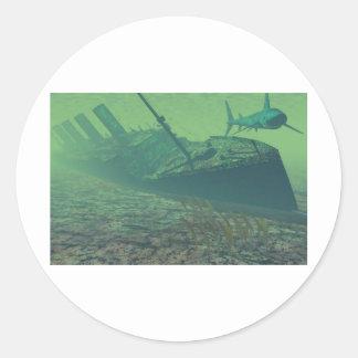 Titanic-sunk Runder Aufkleber