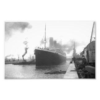 Titanisch an den Docks von Southampton Photodruck