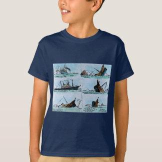 Titanische sinkende magische T-Shirt