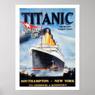 Titanische weiße Stern-Linie - die größte Poster