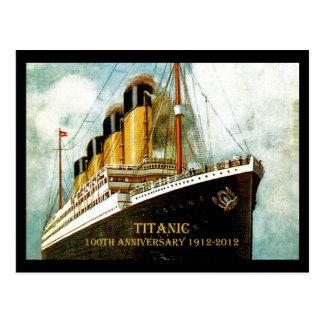 Titanischer 100 Jahrestag Effektivwerts Postkarte
