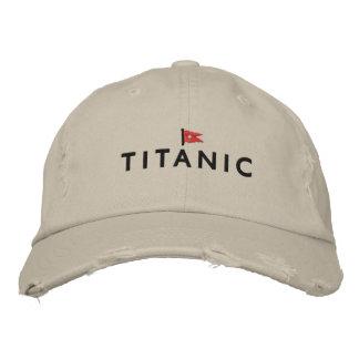 Titanischer Hut mit weißer Stern-Linie Logo Bestickte Mützen