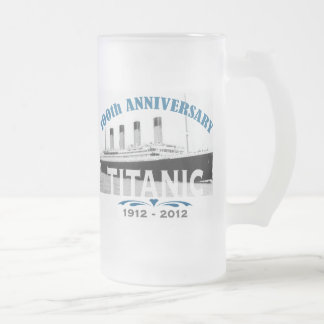 Titanischer sinkender 100-jähriger Jahrestag Mattglas Bierglas