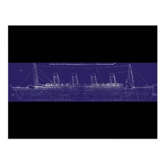 Titanischer ursprünglicher Plan Effektivwerts, Postkarte