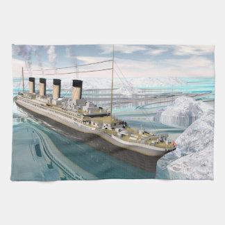 Titanisches Schiff - 3D übertragen Küchentuch