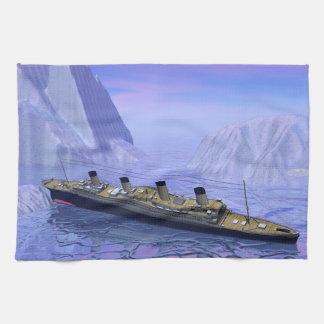 Titanisches sinkendes Boot - 3D übertragen Handtuch