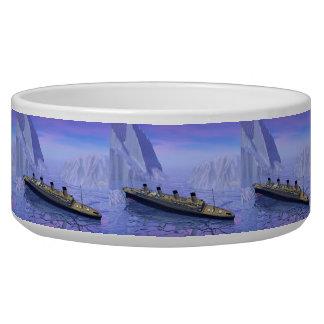 Titanisches sinkendes Boot - 3D übertragen Napf