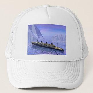 Titanisches sinkendes Schiff - 3D übertragen Truckerkappe