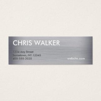 Titanmetallbeschaffenheits-Minikarten Mini Visitenkarte