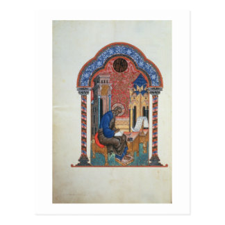Titelblatt von den vier Evangelien von Isaac Postkarte
