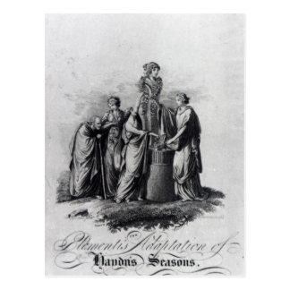 Titelblatt von Muzio Clementis Anpassung Postkarte