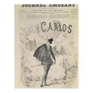 Titelseite von 'Le Journal Amusant' Postkarte