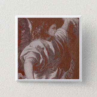 Titian Ankündigungs-Engel mit Fahne Quadratischer Button 5,1 Cm