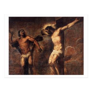 Titian Christus und der gute Dieb Postkarte