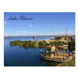 titicaca Boote Postkarte
