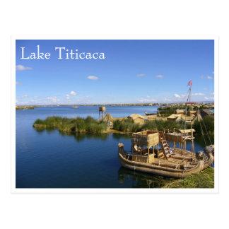 titicaca uros Boote Postkarte