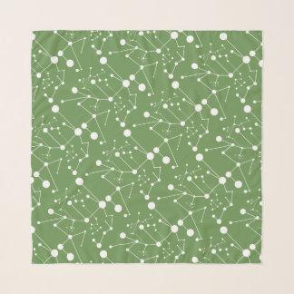 "Titik Garis - mittleres Quadrat (6"" x 6""), grün Schal"