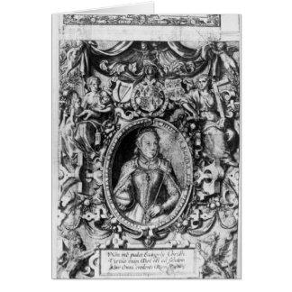 Titlepage der Bibel des Bischofs, Kneipe. im Jahre Grußkarte