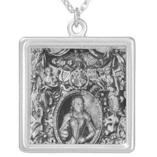 Titlepage der Bibel des Bischofs, Kneipe. im Jahre Halskette Mit Quadratischem Anhänger