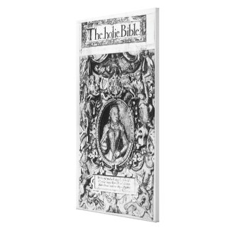 Titlepage der Bibel des Bischofs, Kneipe. im Jahre Leinwand Drucke
