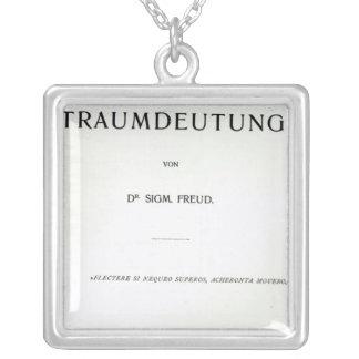 Titlepage die Traumdeutung durch Sigmund Freud Halskette Mit Quadratischem Anhänger