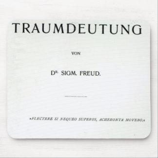 Titlepage die Traumdeutung durch Sigmund Freud Mousepad