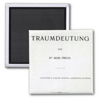 Titlepage die Traumdeutung durch Sigmund Freud Quadratischer Magnet