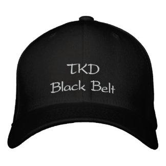 TKD schwarzer Gürtel Bestickte Kappe