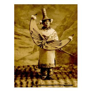 Tlingit-Inder Skagway Alaska Vintag Postkarte