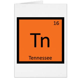 Tn - Tennessee-Staats-Chemie-periodische Tabelle Karte